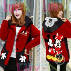 Jaket Mickey Minnie Together Hoodie Korea