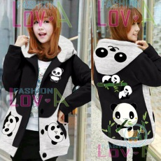 Jaket Panda Mommy And Kids Hoodie Korea