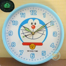 Jam Dinding Doraemon Glow In The Dark