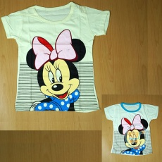 Kaos Minnie Mouse Smile Stripe