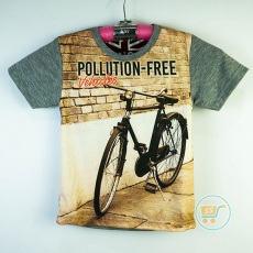 Kaos Bicycle Polution Free (Ukuran 4-14)