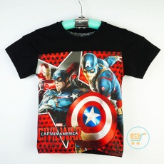 Kaos Captain America Civil War Star (Ukuran 4 - 14)