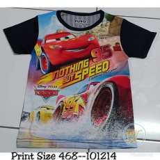 Kaos Cars Nothing But Speed (Ukuran 4 - 14)