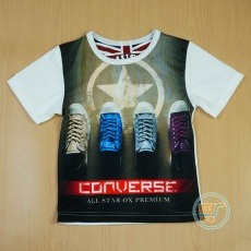 Kaos Converse Shoes Colour (Ukuran 4 - 14)
