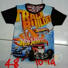 Kaos Hot Wheels Track Builder (Ukuran 4 - 14)