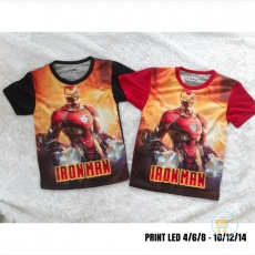 Kaos Iron Man Led Fullprint