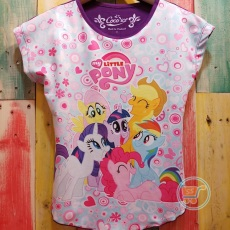 Kaos Little Pony Happy laugh (Ukuran 4-8)