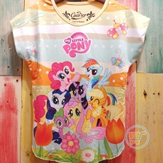 Kaos Little Pony With Tulip Flower (Ukuran 4 - 8)