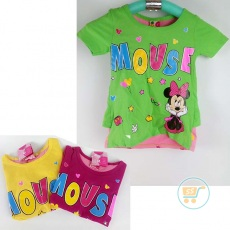Kaos Minnie Mouse Party (Ukuran 2 - 6)
