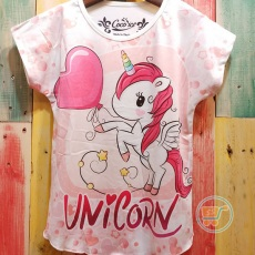 Kaos Unicorn Love Balloon (Ukuran 4 -8)