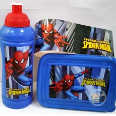 Tempat Bekal Spiderman Blue Set