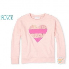Sweater Place Heart Pink Flip Sequin