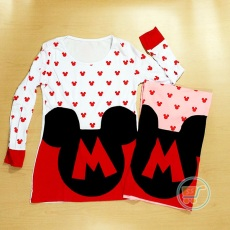 Tangan Panjang Mickey Mouse Head Fullprint (pink)