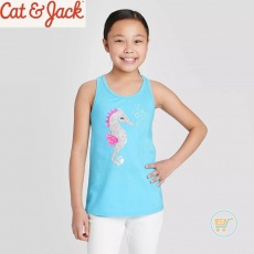 Tanktop Cat & Jack Sea Horse Flip Sequin