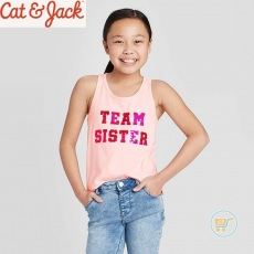 Tanktop Cat & Jack Team Sister Flip Sequin