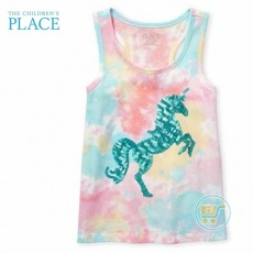 Tanktop Place Unicorn Sequin Rainbow