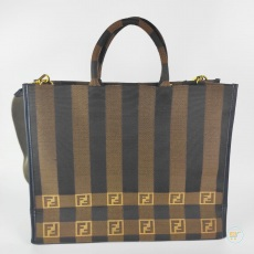 Tas Fendi Brown Jacquard