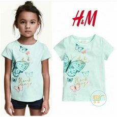 Tshirt HnM Butterfly heart