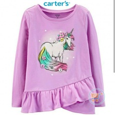 Tshirt Carter Unicorn Purple Longsleeves