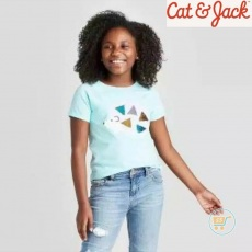 Tshirt Cat & Jack Hedgehog Flip Sequin