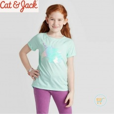Tshirt Cat & Jack Unicorn Softly Beauty Flip Sequin