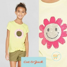 Tshirt Cat & Jack Flower Flip Sequin