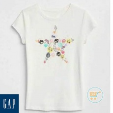 Tshirt GAP Star Cool White