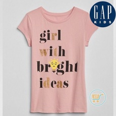 Tshirt GAP Girl With Bright