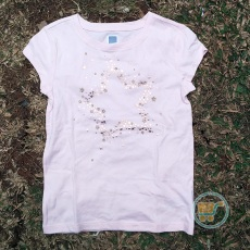 Tshirt Gap Star Gold Metallic
