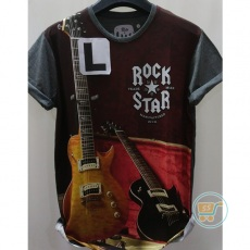 Tshirt Gitar Rock Star Large