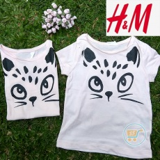 Tshirt HnM Cats Cute Face