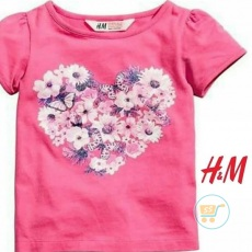 Tshirt HnM Love Flower