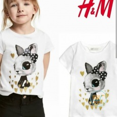 Tshirt HnM Rabbit Love