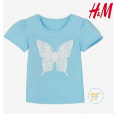 Tshirt HnM White Butterfly
