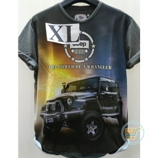 Tshirt Jeep power Wrangler Extra Large