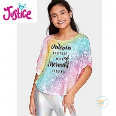 Tshirt Justice Batwings Unicorn Mermaid