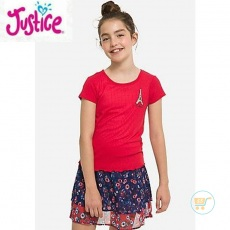 Tshirt Justice Knitted Paris Pretty Red