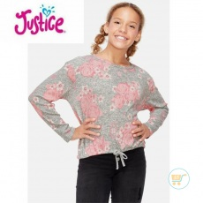 Tshirt Justice Knitted Flower Pink