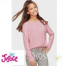Tshirt Justice Knitted Pink Elegant