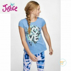 Tshirt Justice Love Painting Blue