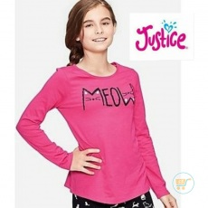 Tshirt Justice Meow Pink