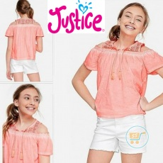 Tshirt Justice Orange Sabrina