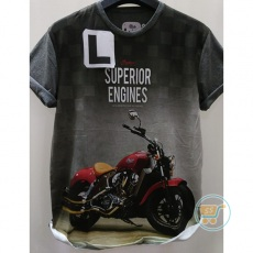 Tshirt Motorcycle Superior Engine Large