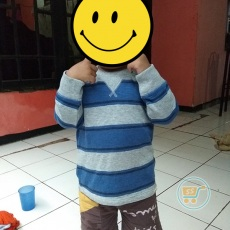 Sweater Baby Gap Salur Navy grey