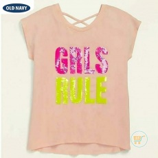 Tshirt Old Navy Girls RUle Flip Sequin