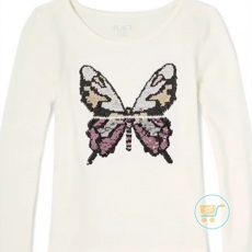 Tshirt Place Butterfly Beauty Flip Sequin