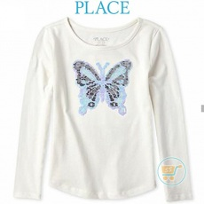 Tshirt Place Butterfly Longsleeves White