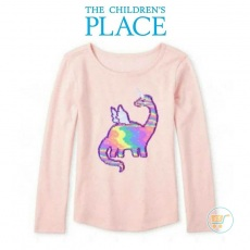 Tshirt Place Dino Pinky Flip Sequin