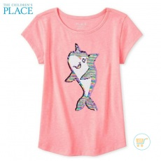 Tshirt Place Dolphin Flip Sequin