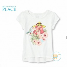 Tshirt Place Girl Flower Glitter
